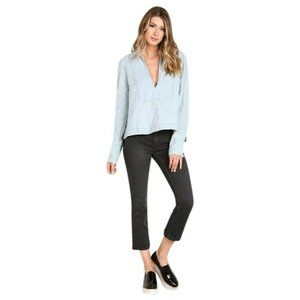 NWT Free People Womens M Ready Or Not Rumi Wash Bl